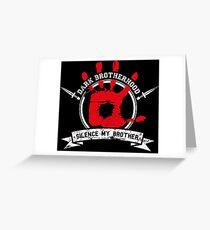 Dark Brotherhood - black Greeting Card