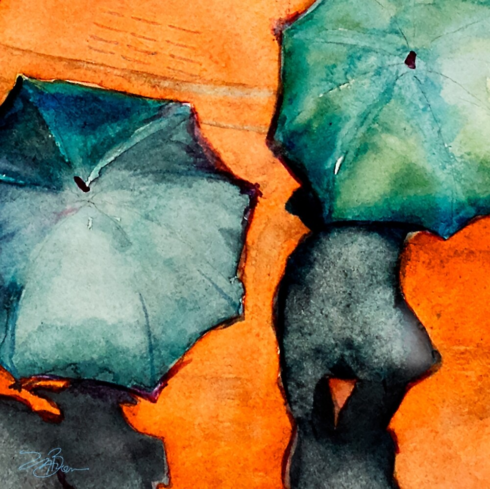 Watercolors and Rain by Melinda Brown by Melinda Brown
