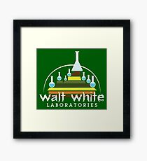 Walt White Laboratories  Framed Print