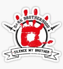 Dark Brotherhood - White Sticker