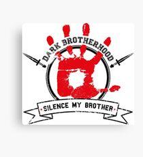 Dark Brotherhood - White Canvas Print