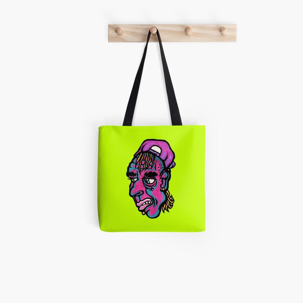 Burnout - Green Background Version Tote Bag