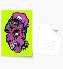 Burnout - Green Background Version Postcards