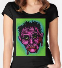 Pink Zombie Fitted Scoop T-Shirt
