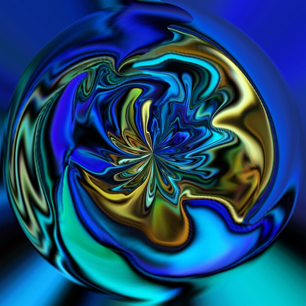 Golden Orb of Blue by faymic