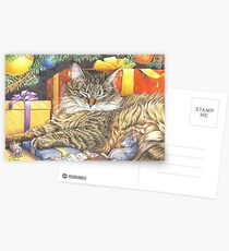 Christmas Peace for cats and mice Cartes postales