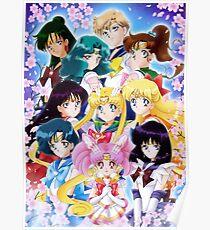 Sailor team - Sakura flowers - Poster