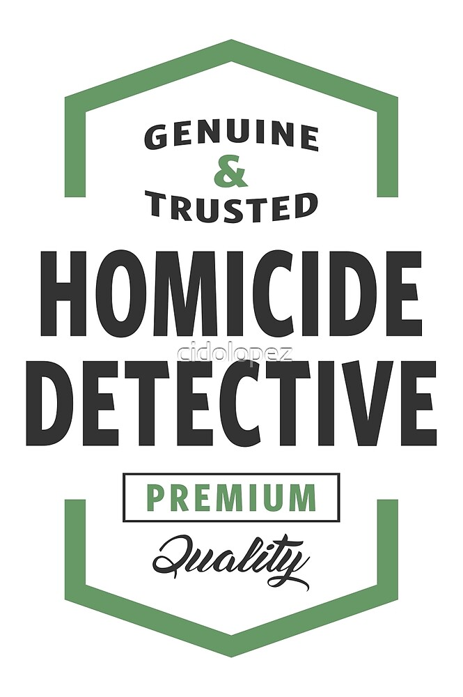 Homicide Detective Logo Gifts by cidolopez