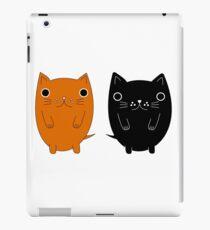 Two silly Cartoon Cats iPad Case/Skin