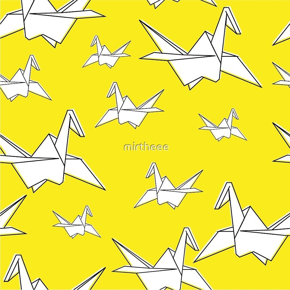 Yellow Cranebirds by mirtheee