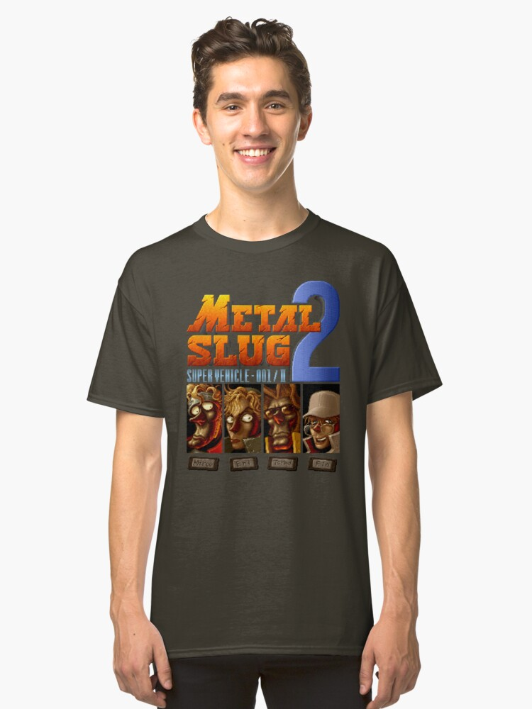 Metal Slug 2 (Neo Geo) Classic T-Shirt Front