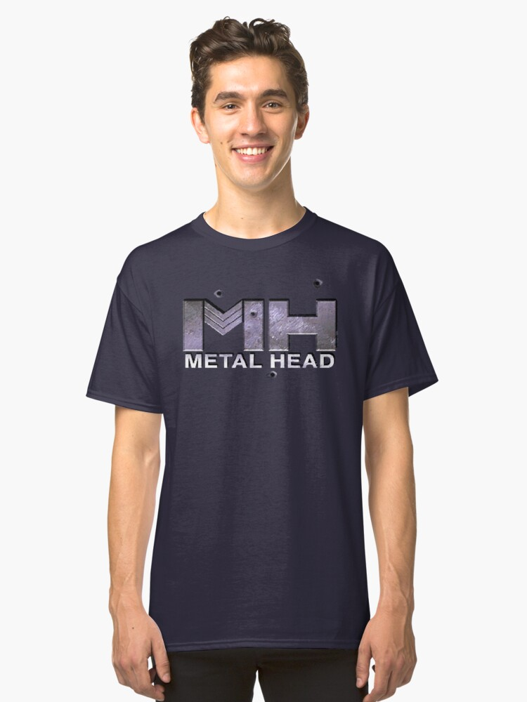 Metal Head (32X Title Screen) Classic T-Shirt Front