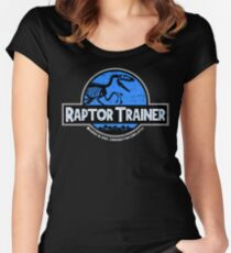 Jurassic World Raptor Trainer Women's Fitted Scoop T-Shirt