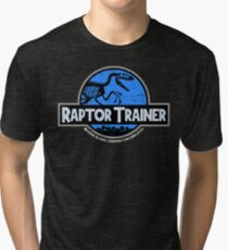 Jurassic World Raptor Trainer Tri-blend T-Shirt