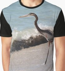 Beach Heron Graphic T-Shirt