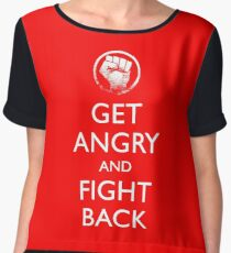 Get Angry and Fight back  Chiffon Top