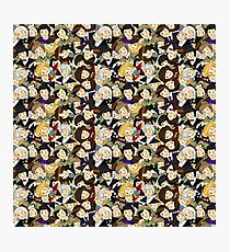 Doctor Who Chibi Collage Photographic Print