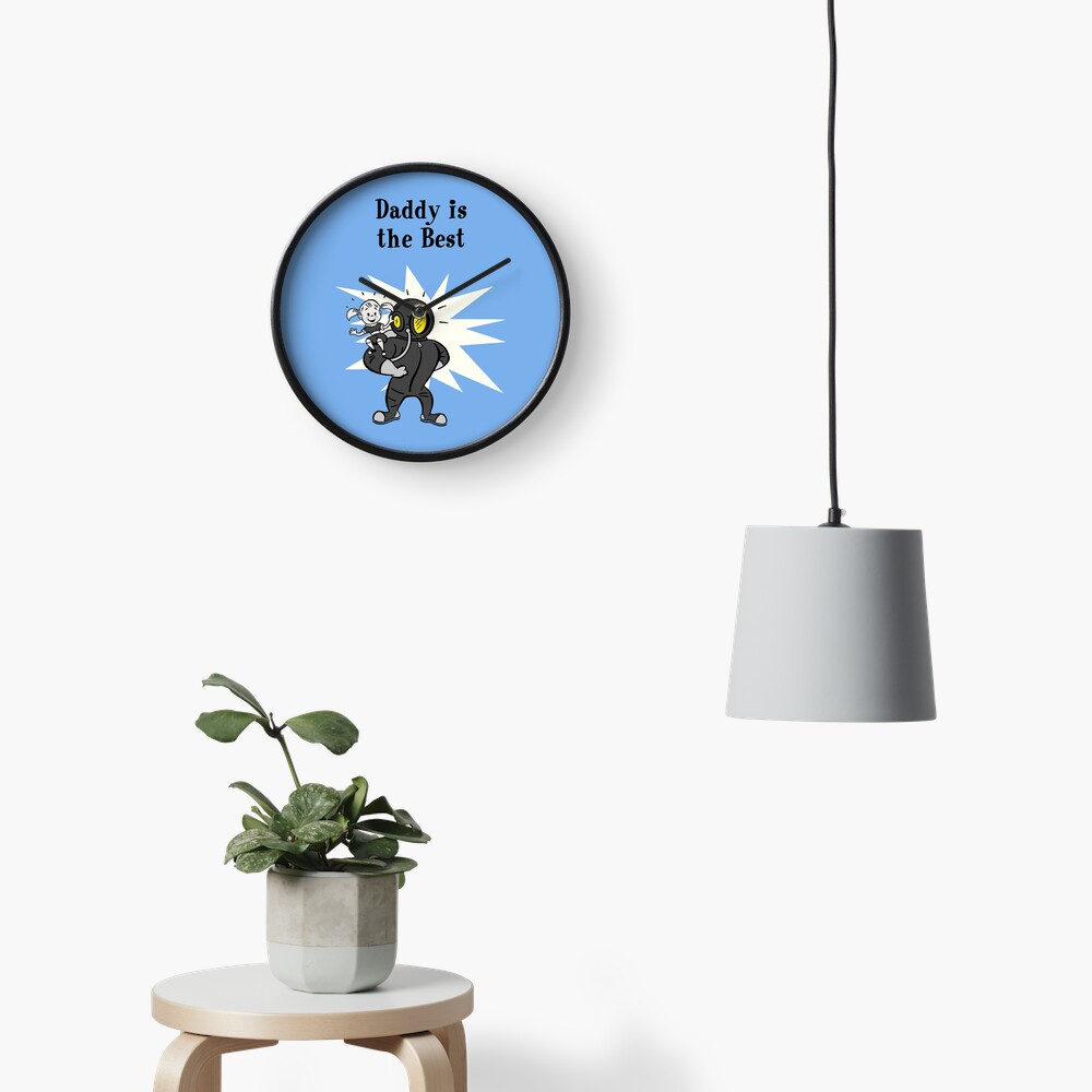 BioShock – Daddy is the Best Poster (Black) Clock