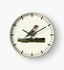 Chaffinch - Dash dial markings, Cream background Clock