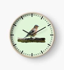 Chaffinch - Dash dial markings, Green background Clock