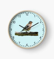 Chaffinch - number dial markings, Blue background Clock
