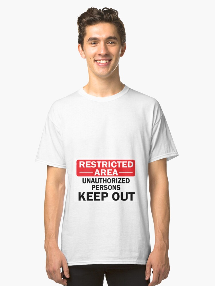 RESTRICTED Classic T-Shirt Front