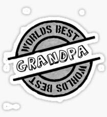 Worlds Best Grandpa Sticker