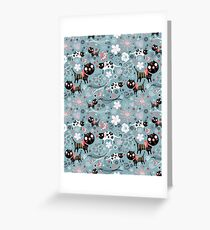 Funny cats in love  Greeting Card