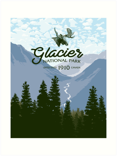 Glacier National Park Valley by blue67sign