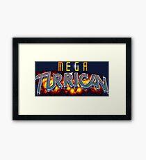 Mega Turrican (Genesis Title Screen) Framed Print