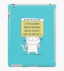 My new year resolution / Cat Doodle iPad Case/Skin