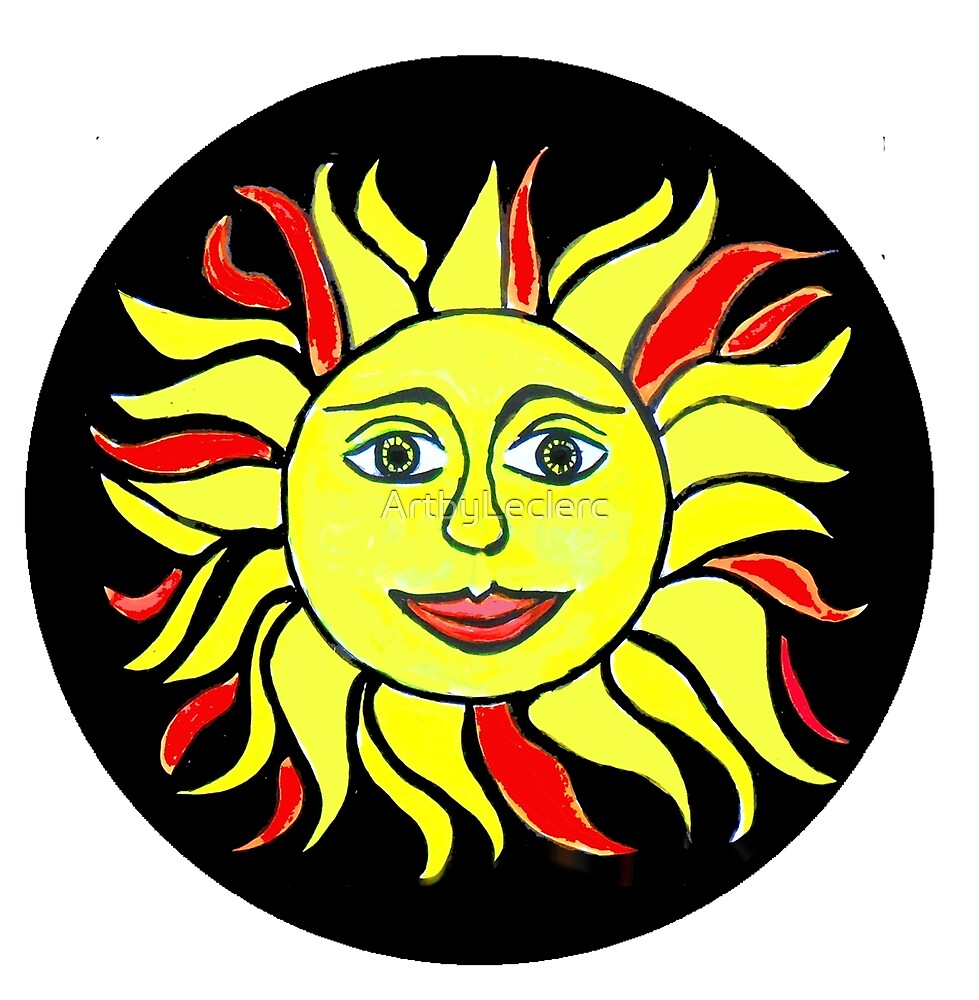 Sun Face by ArtbyLeclerc