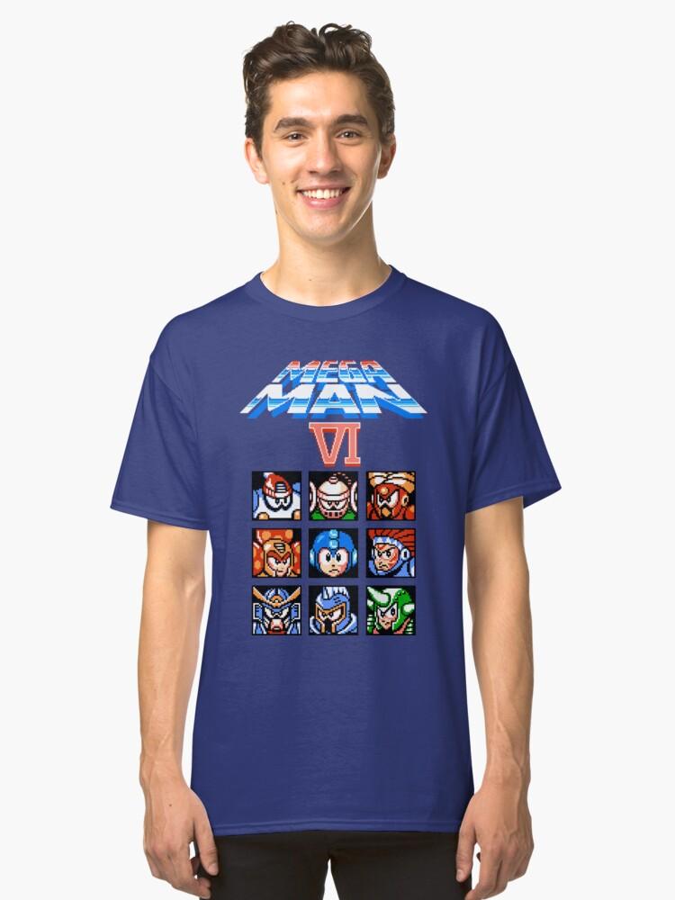 Mega Man 6 (NES) Classic T-Shirt Front