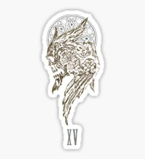 The Lucian Crest - White BG Sticker