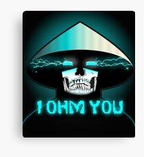 RAIDEN SKULL: I OHM YOU Canvas Print