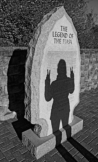 Monumental Shadows Peace Out  by Robert Meyers-Lussier