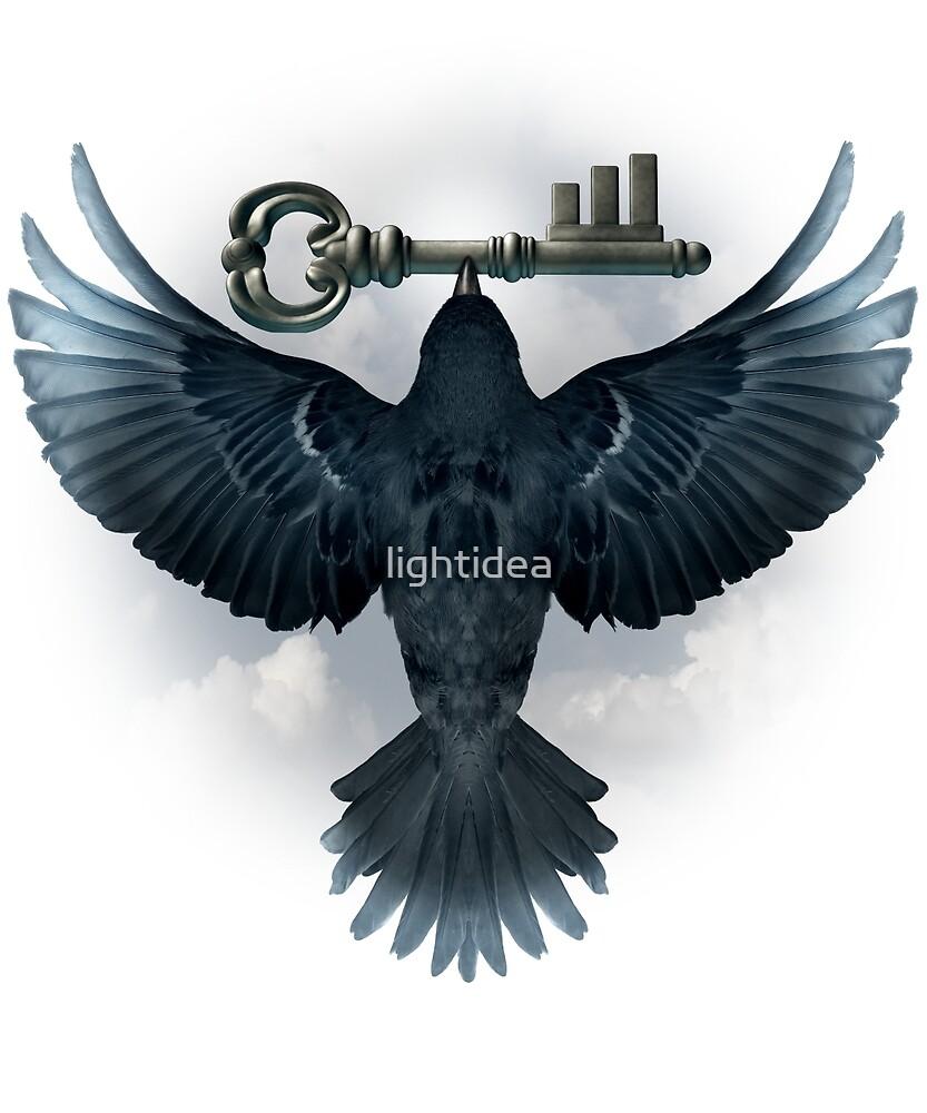 Black Bird with Key by lightidea