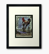 Red Rooster Bicycles Too Framed Print