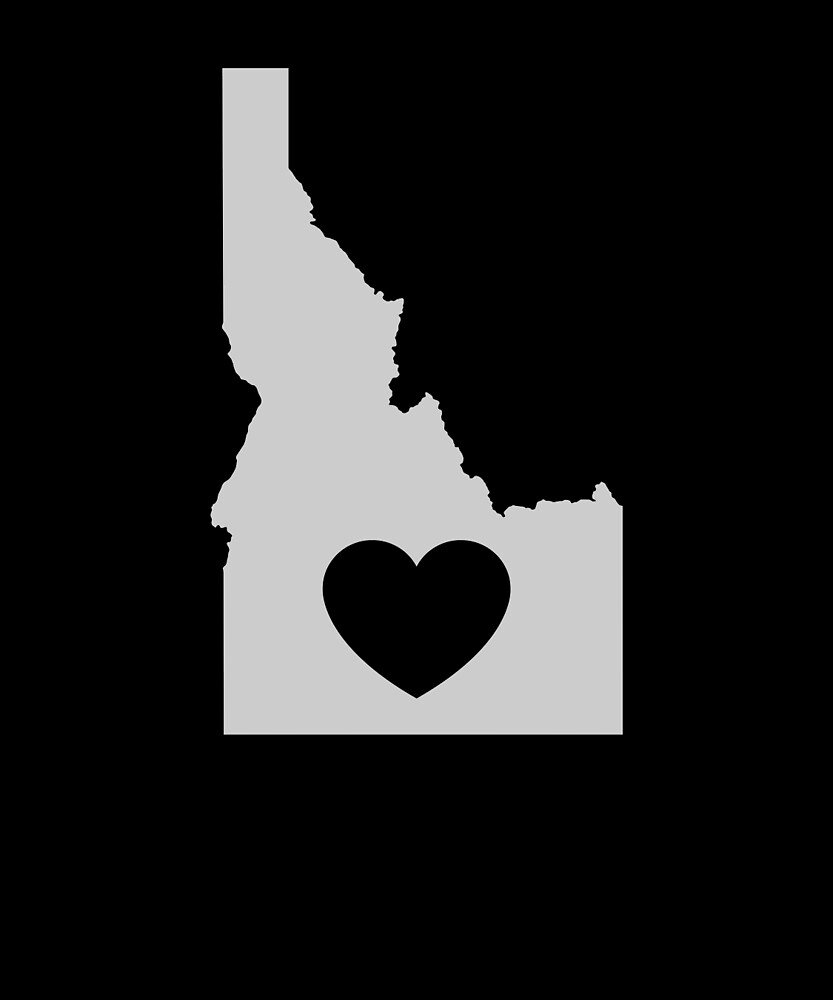 Idaho Love Heart by helloshirts