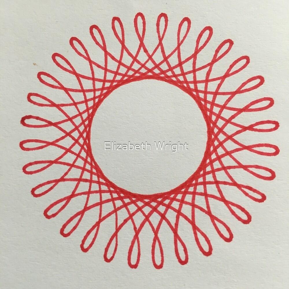 Red Spiral1 by Elizabeth Wright