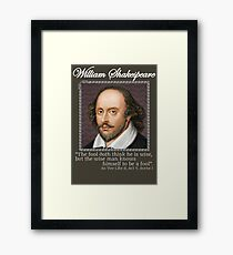 william Shakespeare - The fool Framed Print