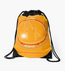 Leather Nebula Drawstring Bag