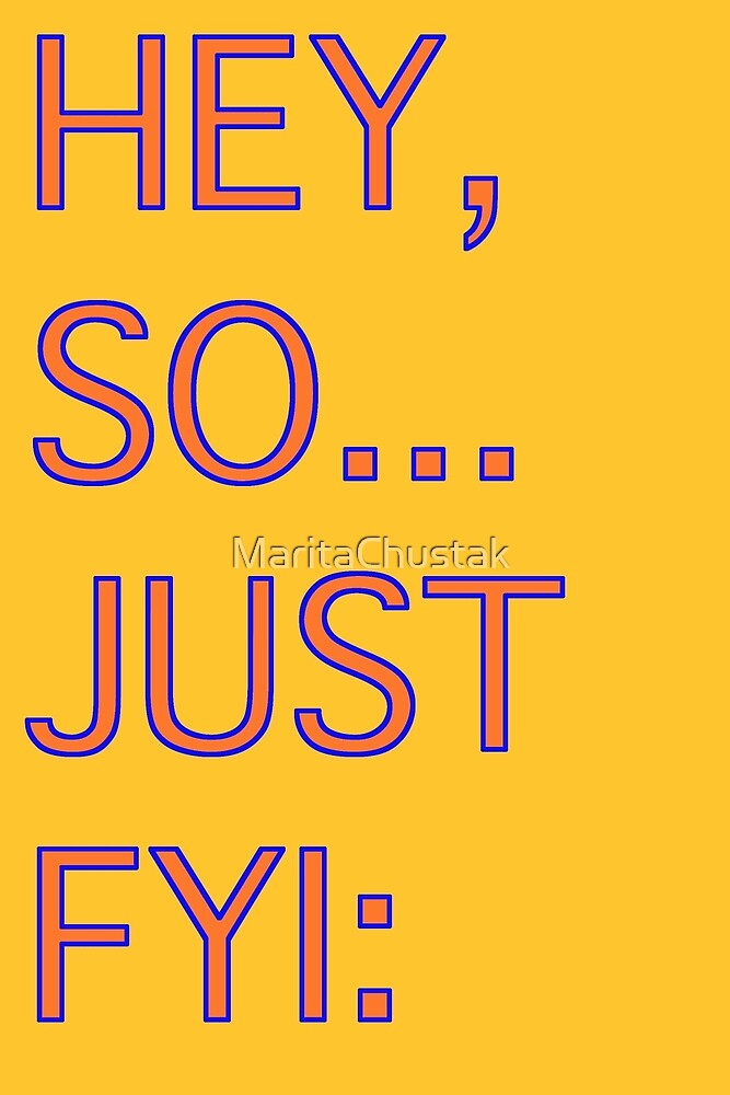 Hey, so... just fyi: by MaritaChustak
