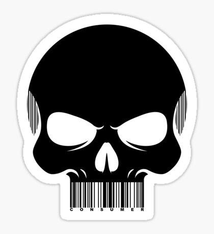 CONSUMER. -black- Sticker
