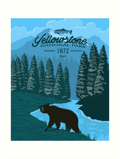 Yellowstone Bear Poster by blue67sign