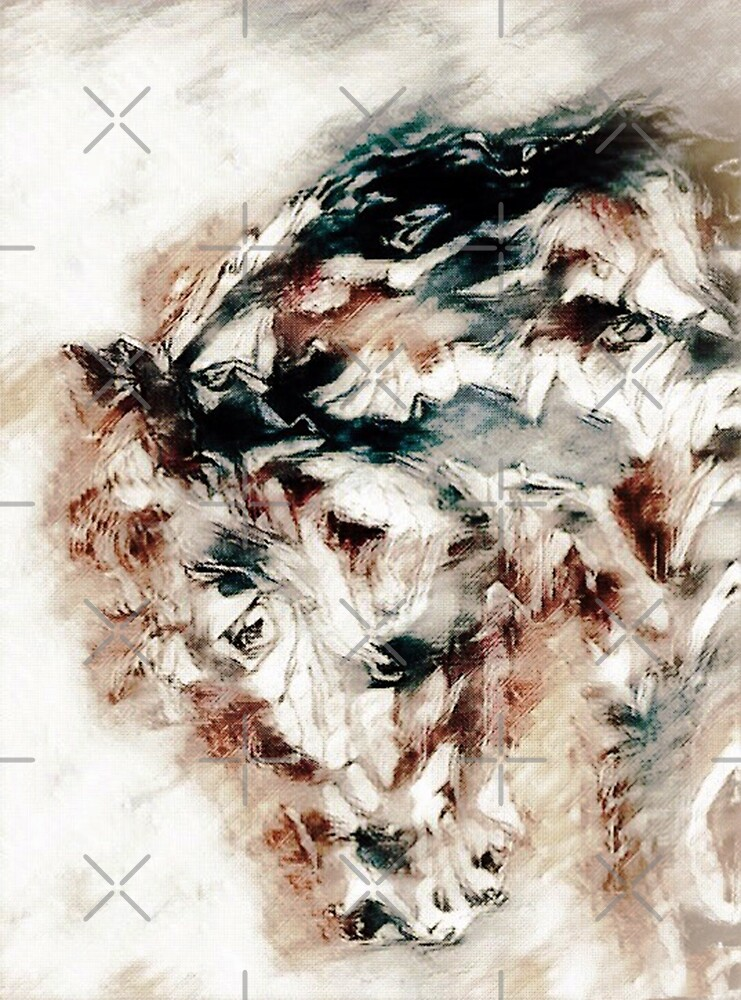 Abstract Horse Portrait by WishesandWhims