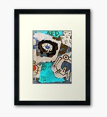 white shaman dancer Framed Print