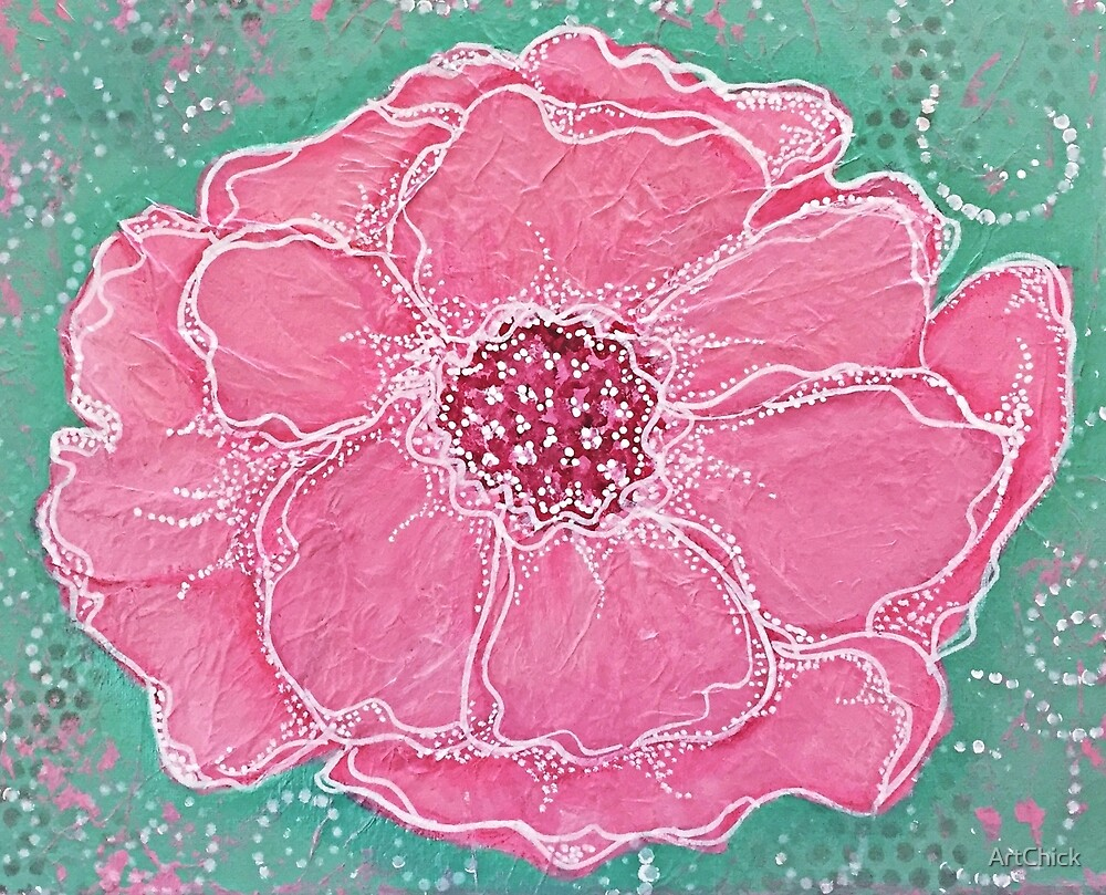 The Big Pink Flower by ArtChick