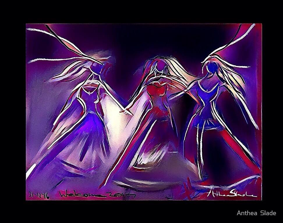Lavender Dance Redux by Anthea  Slade