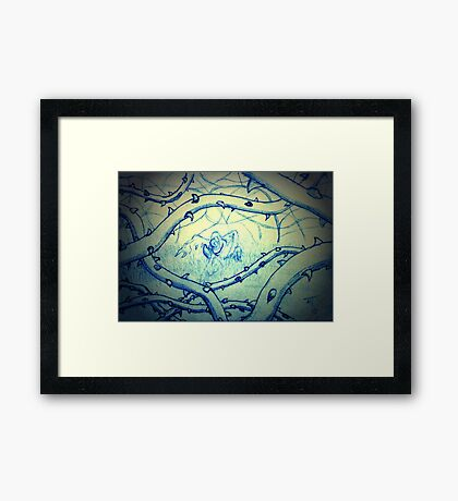 Just hold on a while. I will fly us away from this misery. Framed Print